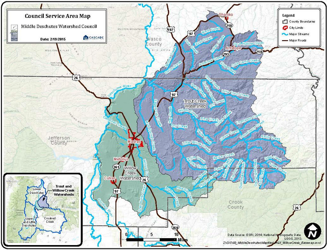 Willow-Trout Watershed Map