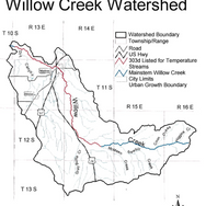 Willow Cree Watershed Map