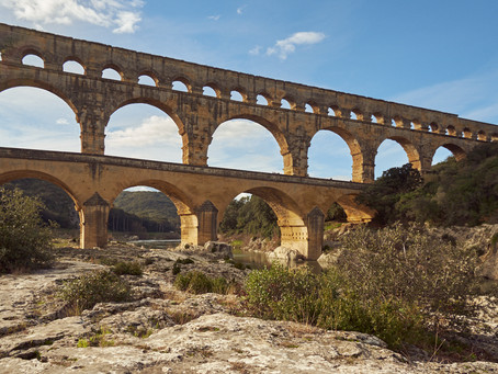 Ein Wintertag am Pont du Gard