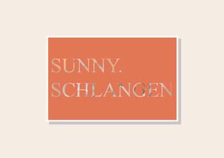 Postkarte Sunny.Schlangen