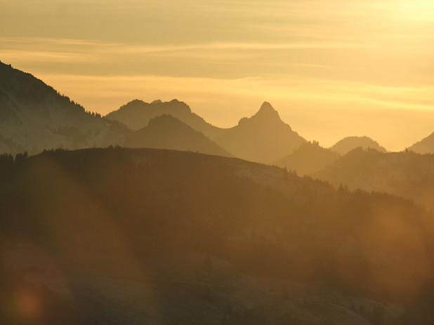 Sonnenuntergang im Gantrisch