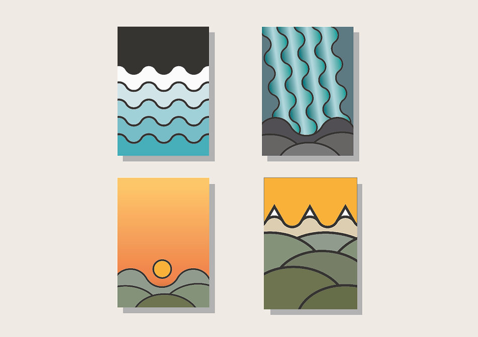 Postkarten Landschaft