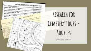Research for Cemetery Tours - Sources