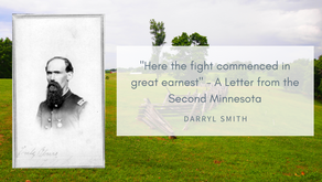 """Here the fight commenced in good earnest"" - Thomas G. Scott, Second Minnesota"