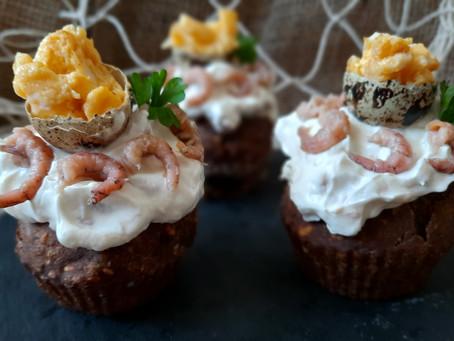 Nordfriesland de luxe: Hallig-Cupcakes mit Schwarzbrot-Muffins