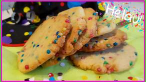 Knallbunte Konfetti-Cookies 🎉