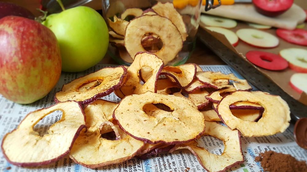 Apfelchips, Küstencookie, Herbst, Snack, ApfelköstlichZeiten