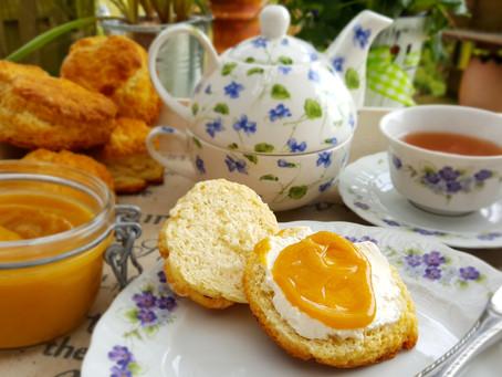 It's Teatime, Mylady: Scones and Orange Curd 🍊
