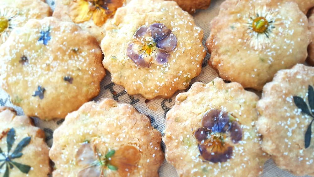 Kekse, Cookies, Shortbread, Flower Fairies, Blumen, Hornveilchen, Gänseblümchen