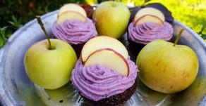 Experimente und ihre Ergebnisse oder: fruchtige Aronia-Apfel-Cupcakes 🍎🍏💜