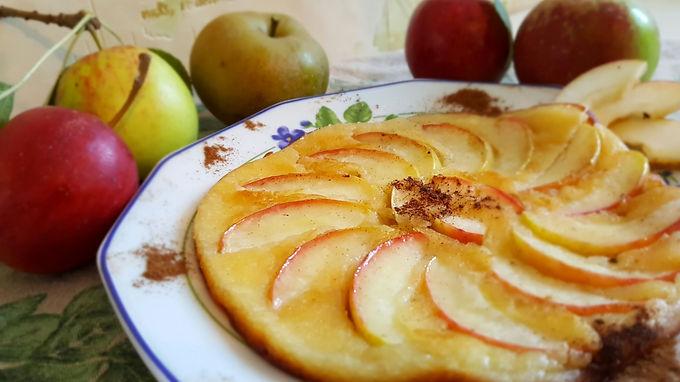 ApfelköstlichZeiten: Karamellisierte Apfelpfannkuchen