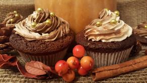 Hallo Oktober: Kürbiscupcakes mit Kakao-Buttercreme 🎃