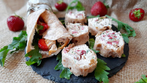 Fruchtige Wraps mit Dinkel-Vollkorn-Tortillas 🍓🌯