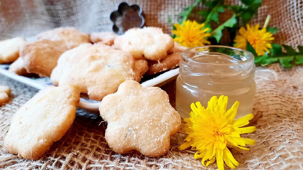 Löwenzahn, Löwenzahnkekse, Cookies, Löwenzahnhonig, Rezept, Küstencookie,  Kuestencookie