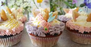 """Märchenhafte Zeiten: """"Regenbogen-Cupcakes""""🌈🦄 + Grundrezept Wunderkuchen"""