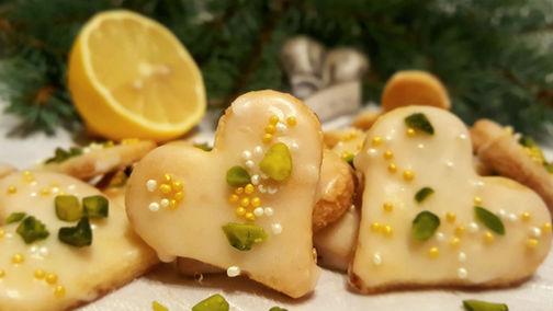 Fruchtige Zitronenherzchen ohne Zucker🍋🎄