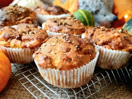 Herzhafte Kürbis-Käse-Muffins 🎃🧀