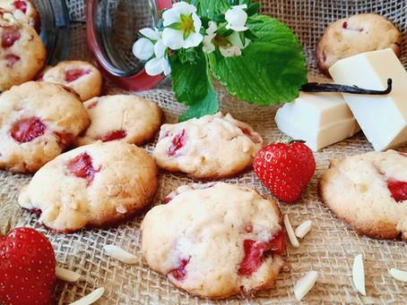 Erdbeer-Cookies mit weißer Schokolade 🍓