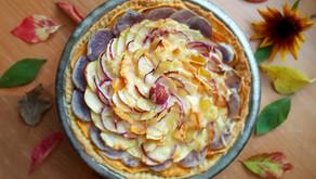 Zeit zum Danken: Herbstlicher Kartoffel-Apfel-Pie (nicht nur) zu Erntedank 🥔🍏