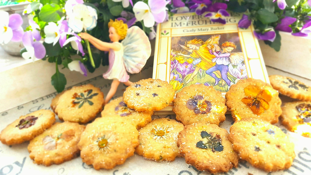 Kekse, Cookies, Shortbread, Flower Fairies, Blumen, Hornveilchen, Gänseblümchen, Küstencookie