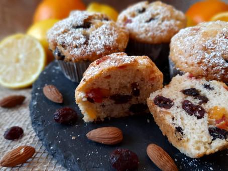 Englische Früchtekuchen-Muffins