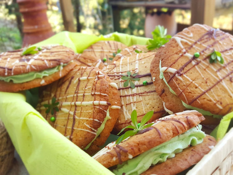 Waldmeister-Sandwich-Cookies 🌱