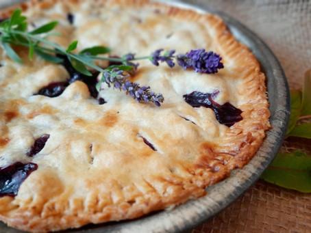 Gedeckter Heidelbeerkuchen (Blueberry Pie)