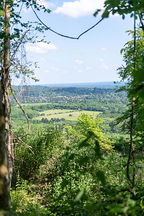 Caterham- views from North Downs Way near Woldingham towards Oxted & Hurst Green South God