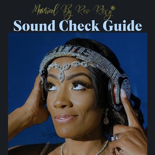 Sound Check Guide