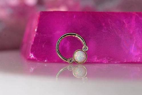 Opal and CZ Ring