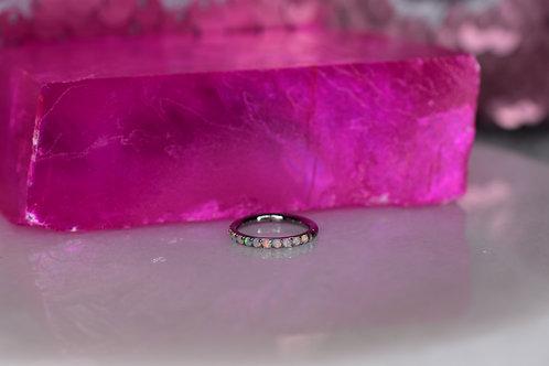 Pave Opal Hinge ring