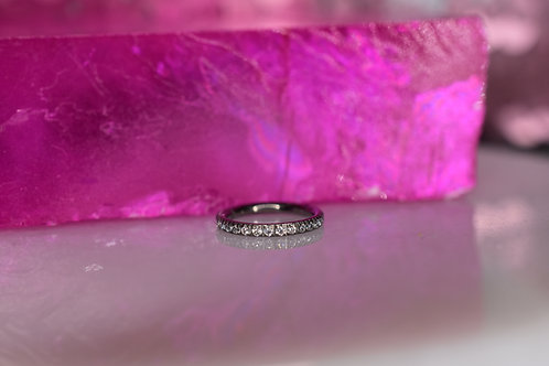 Pave CZ hinge ring