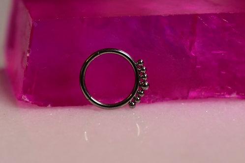 Beaded Hinge ring