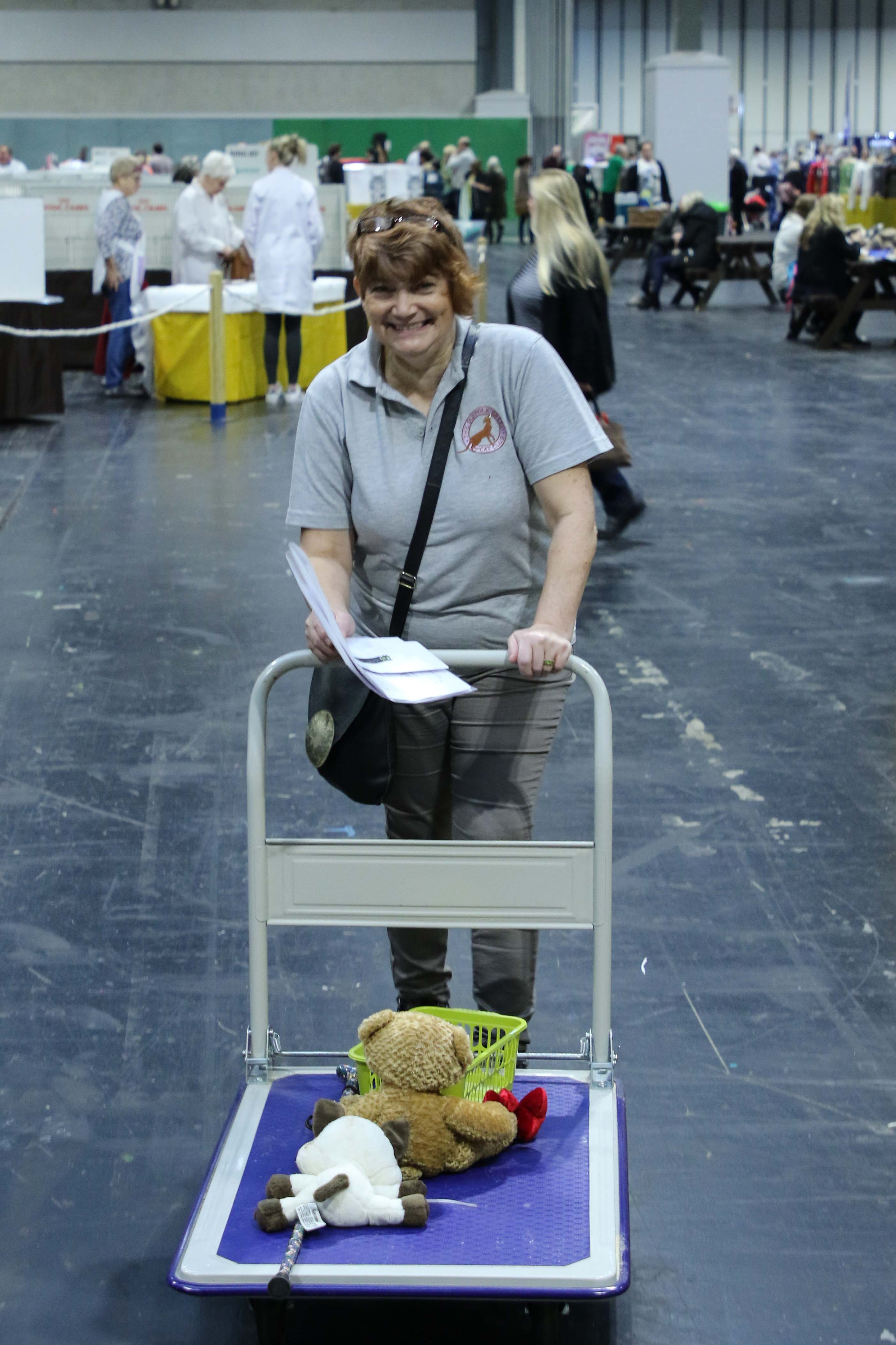 Linda working hard (teddies!)