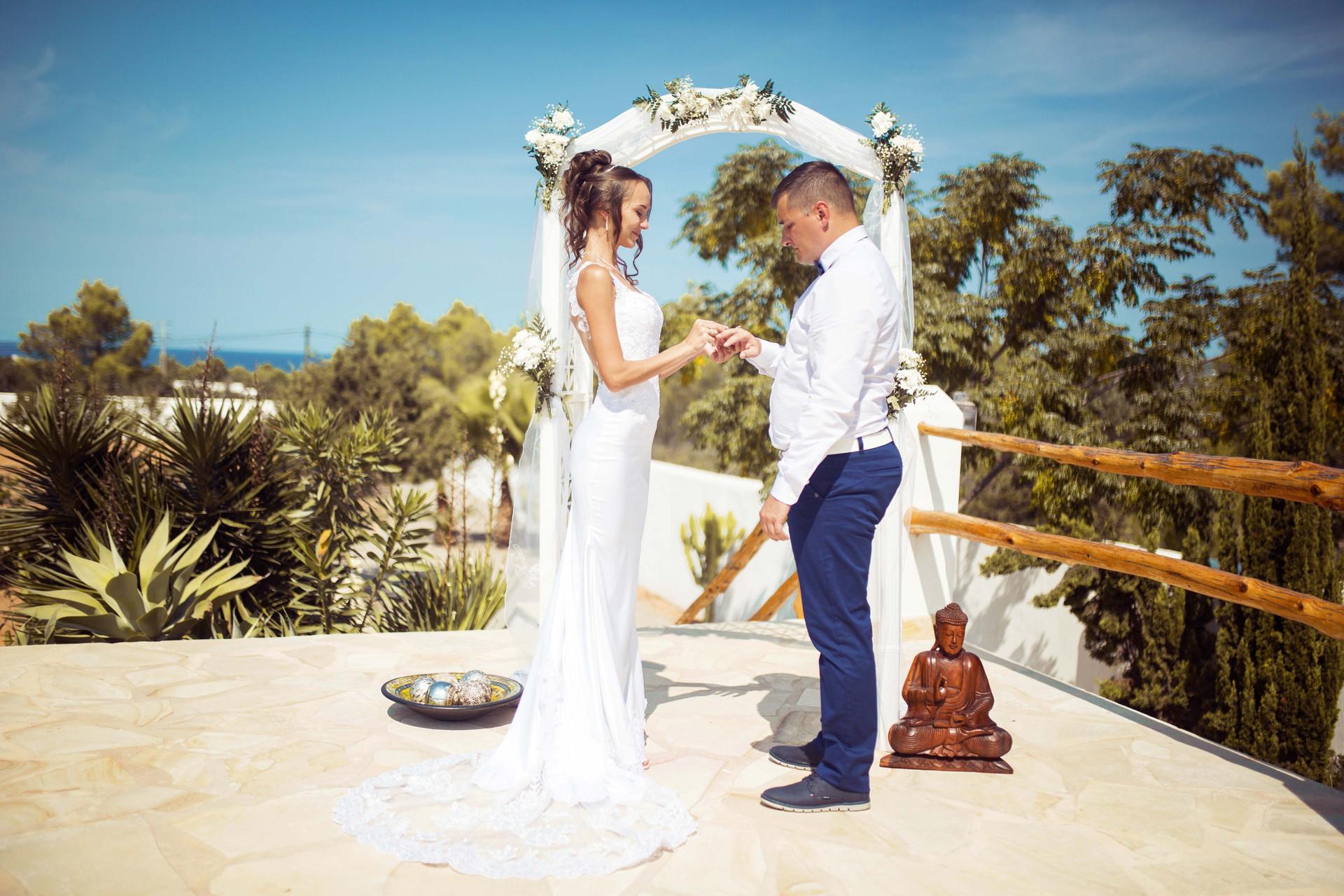 Юлия и Антон свадьба на Ибице