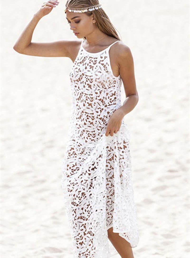 2015-Sexy-Women-Summer-Boho-Long-Maxi-Dress-Beach-Lace-Dresses-White-New-Wholesales-Discount-1