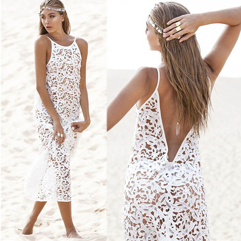 2015-Sexy-Women-Summer-Boho-Long-Maxi-Dress-Beach-Lace-Dresses-White-New-Wholesales-Discount