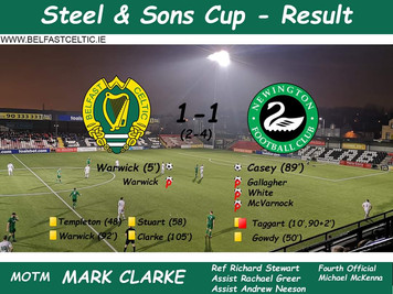 Steel & Sons Cup Semi Final vs Newington FC
