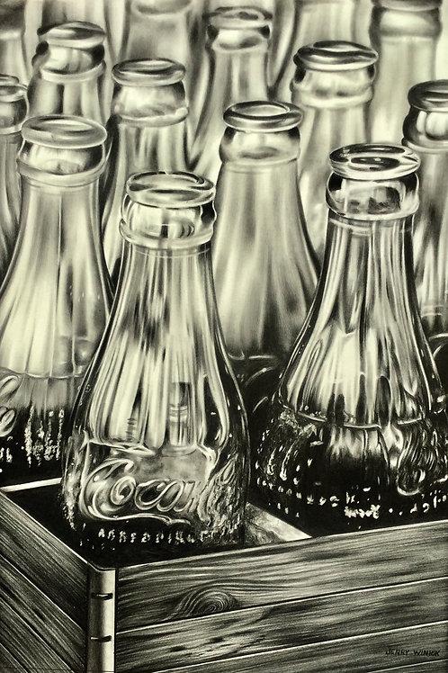 Coke Bottles  in a Crate