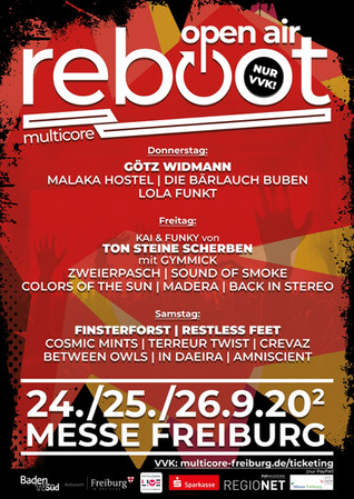 Multicore REBOOT OPEN AIR FESTIVAL Line-up