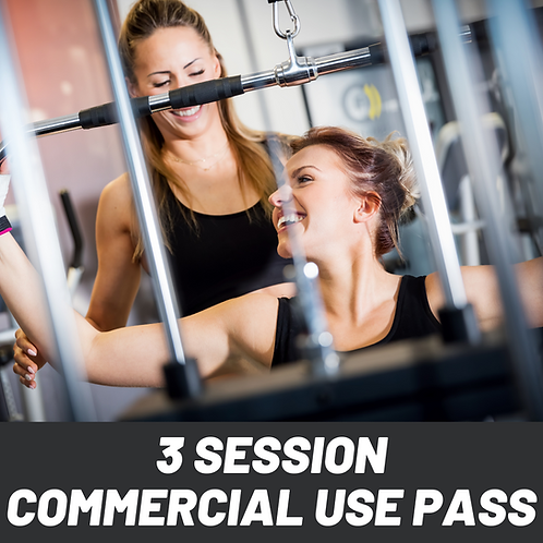 3 Session Commercial Use Pass