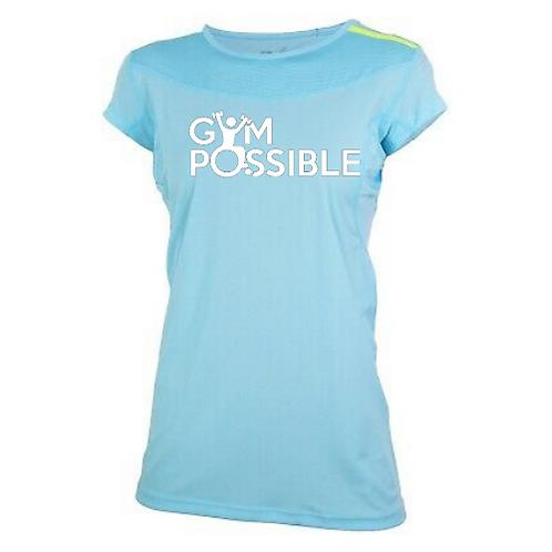 Women'sTechnical Gym T-Shirt (Sky Blue)