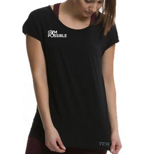 Womens Technical Gym T-shirt (black)