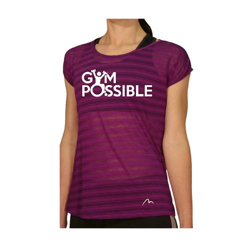 Women's Technical Gym T-Shirt (Purple)