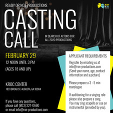 RON Casting Call Flyer