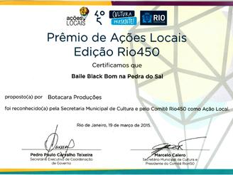 BAILE BLACK BOM recebe Chancela de Ação Local do Comitê RIO 450