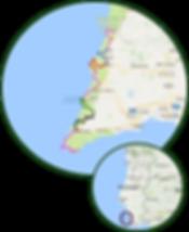 Map _Rota Vicentina_ Historical Algarve.