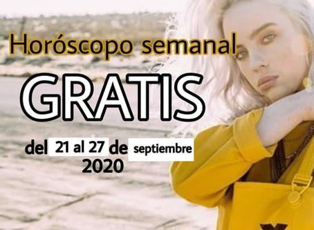 NUMERO, FRASE de la semana y HOROSCOPO del 21 al 27 de septiembre 2020