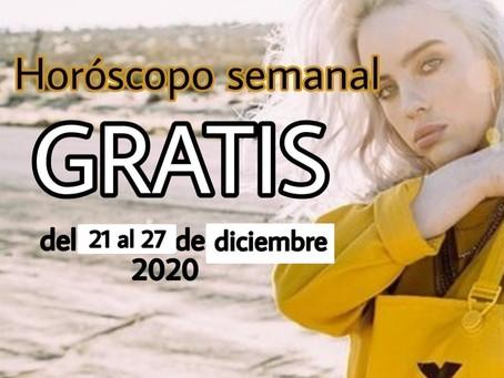 NÚMERO, FRASE de la semana y HORÓSCOPO del 21 al 27 de diciembre 2020