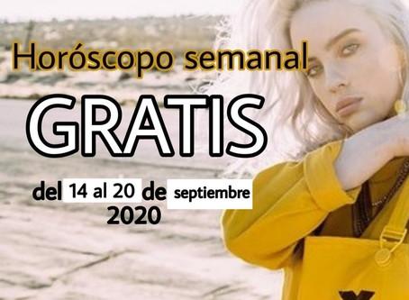 NUMERO, FRASE de la semana y HOROSCOPO del 14 al 20 de septiembre 2020